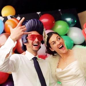 Fun couple by Anneka Ireland Wedding Videographer Kent